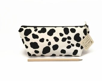 Pencil case, Cute school supply, Dalmatian, Pencil zipper bag, Pencil case for kids, Pencil pouch cute, Student gift, Cute desk accessory