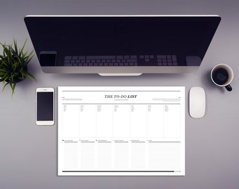 Desk pad // weekly to-do plan