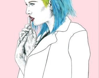 Colors - Halsey, A5 / A4 art print