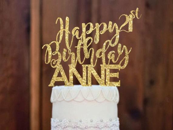 Cake Topper Happy Birthday Cake Topper 21st Birthday Cake