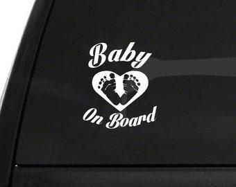 Baby on Board (R12) Vinyl Decal Sticker Car/Truck Laptop/Netbook Window