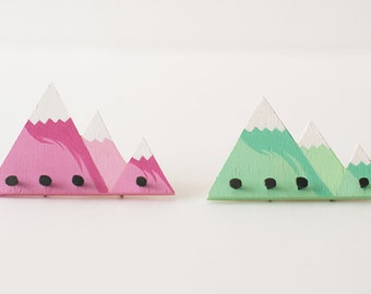 Mountains wall coat rack  scale 1:6 black color for diorama blythe, pullip, barbie, momoko or similar