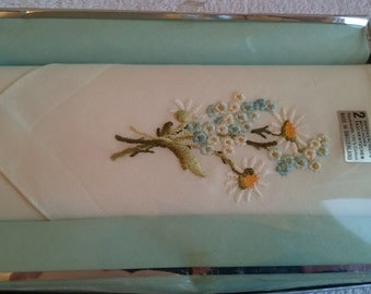 Lovely 100% Pure Cotton Swiss Boxed Handkerchiefs - Vintage Unused Stock from the 1970s