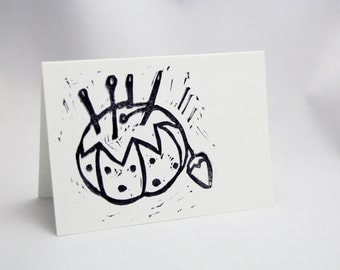 Set of Eight Hand Stamped Cards - Pincushion