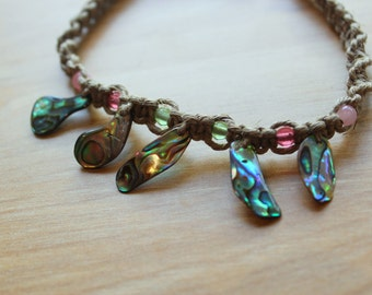Abalone Shell Twine Anklet