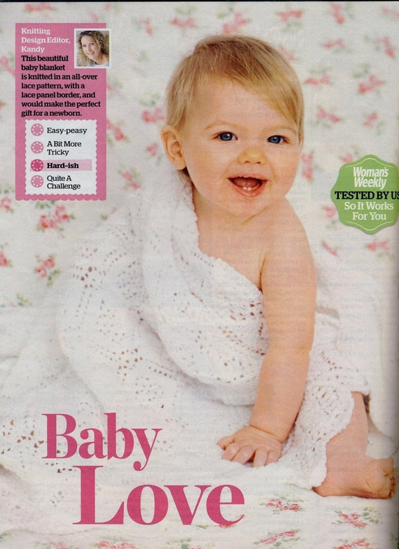 Patons Knitting Patterns Baby Blankets : BABY SHAWL / BLANKET Knitting Pattern. Heirloom Christening