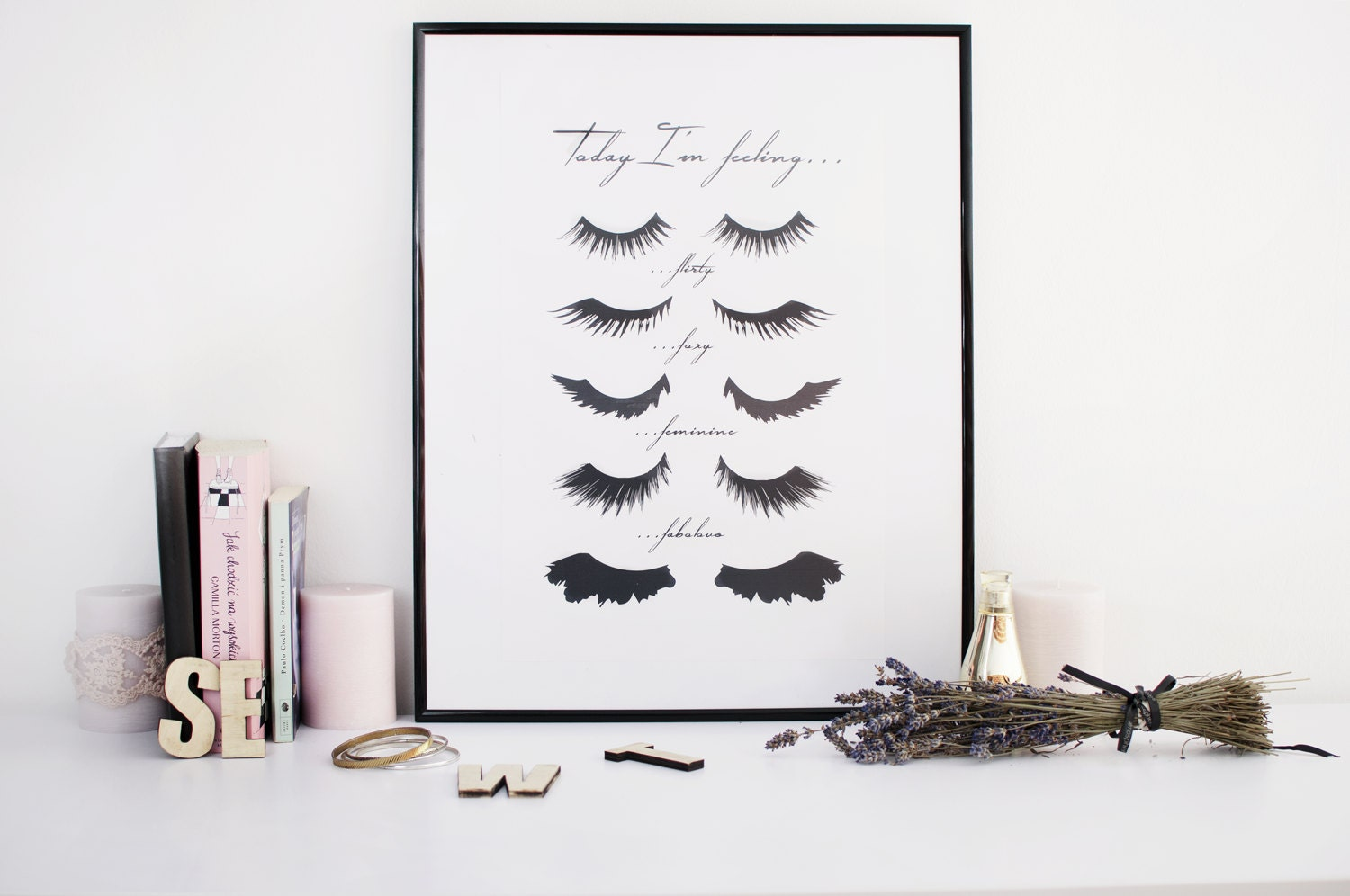 minimalist poster eye lashes fashion print wall. Black Bedroom Furniture Sets. Home Design Ideas