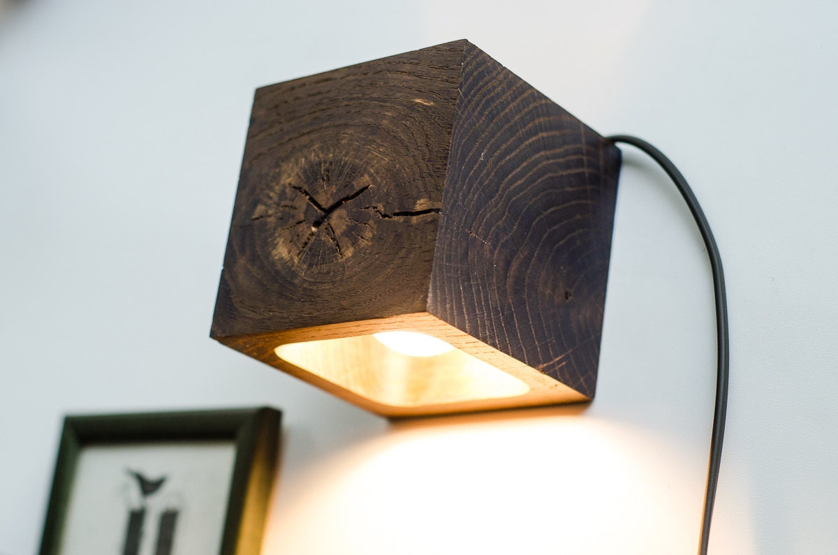 wall lamp wooden Q82 handmade. wall light. sconce. wood by dtchss