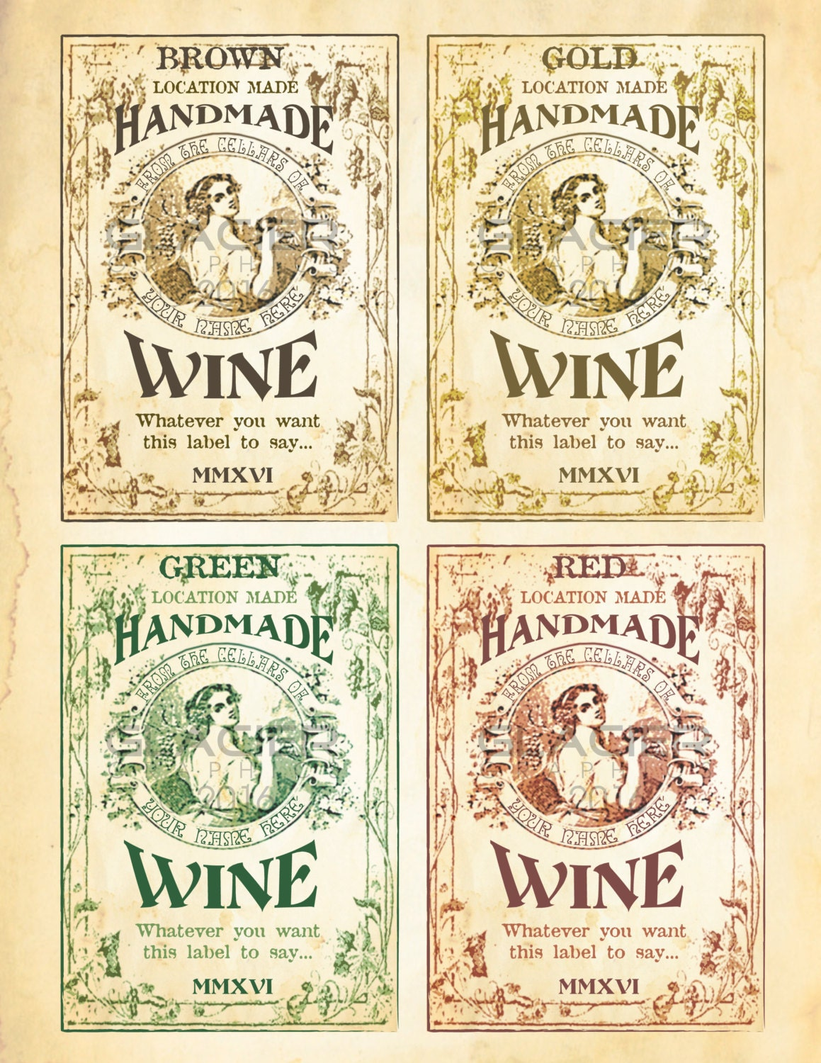 It is an image of Sassy Wine Bottles and Labels