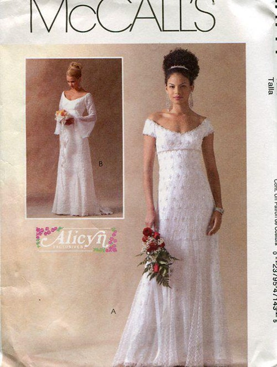 Free Us Ship Sewing Pattern Mccall 39 S 4714 Alicyn Wedding