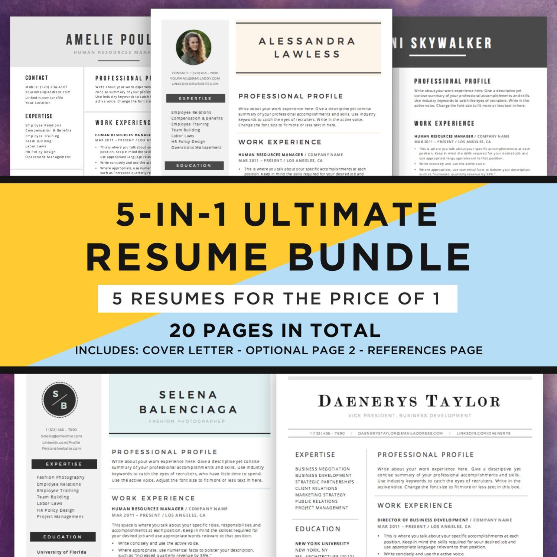 resume template bundle cv bundle 5 resume designs in 1 20