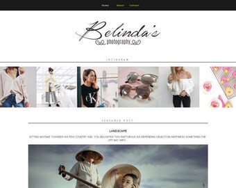 Blogger Template - Responsive Grid Blog- Responsive Blog theme - Blog Website - blogger theme - Belinda Blog Template - Instant Download