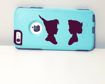 Peter Pan and Wendy Cameo Decal