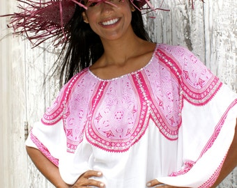 SALE!! Poncho Summer/Tassels poncho/Beach cover up/Resort wear/Beach wear/Bohemian Poncho * ASTER PONCHO
