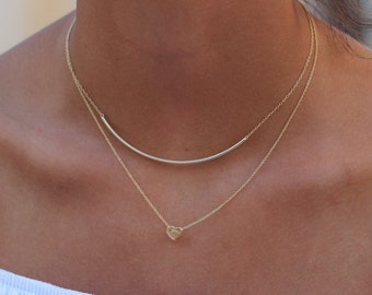 tube necklace-gold tube necklace-dainty necklace-layering necklace-gold delicate necklace-line necklac-stunning necklace