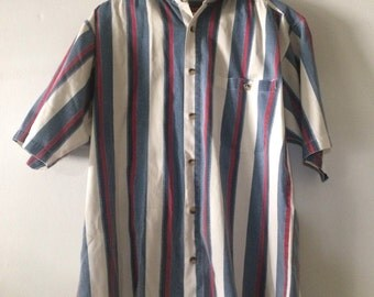 Striped Faded Glory Button Down
