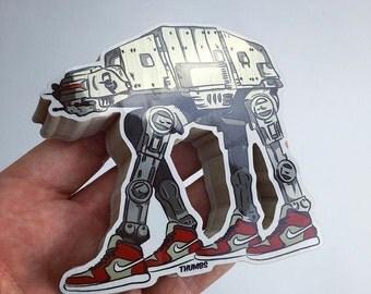 Star Wars AT-AT x Nike Die Cut Sticker