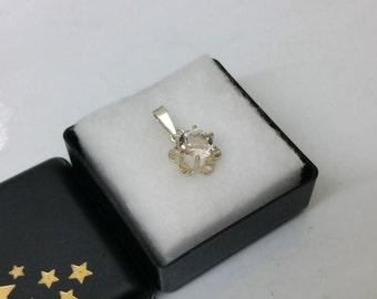 Antique pendant silver 835 Crystal vintage SK864