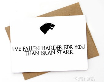 Handmade Funny Game Of Thrones Valentines Day Card, Love Card