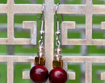 Golden Apple - Dangle Earrings