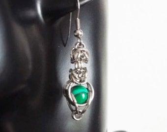 Earrings Kariad S - Malachite