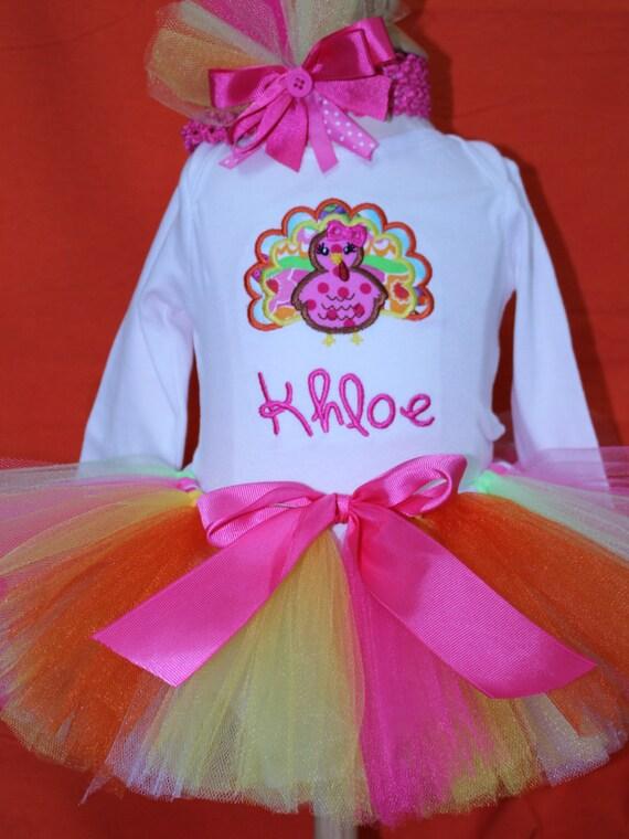 fb9e65f5a DollyWollySewing - Girls Thanksgiving outfit, Baby Thanksgiving outfit, Personalized  Thanksgiving Turkey Outfit, Thanksgiving bodysuit,Thanksgiving tutu