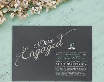 Printable Engagement Invitation - We're Engaged