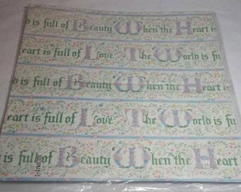 Wedding Shower Gift Wrap Bridal Shower Wrapping Paper Love Hallmark Vintage