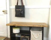 Rustic Entryway Bench - Solid Wood Entryway Bench, Shoe Organizer, Entryway Shelves, Wood Bench, Bench with shoe storage, Shoe bench, Rustic