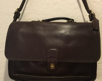 Vintage Bag- Dark Brown Vintage Coach Carrier Briefcase
