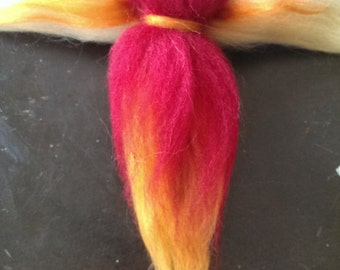 Fire fairy needle felted Waldorf