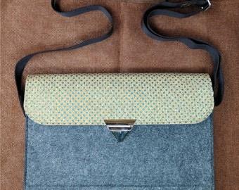 13 inch Macbook pro case, holiday gift, shoulder bag ,Cross Body Bag Macbook air sleeve,15 inch laptop sleeve,adjustable strap bag,B5D14