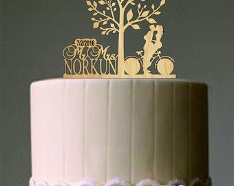 Custom Wedding Cake Topper, Personalized wedding cake topper, Mr and Mrs wedding cake topper, Rustic Wedding Cake topper, Tree of life