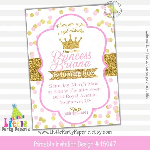 princess birthday invitation princess party invitation pink and