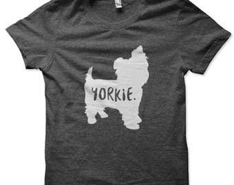 Yorkie Dog T-Shirt for Men and Women / Yorkshire Terrier T-Shirt for Men and Women / Terrier Tee Shirt