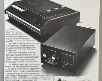 1971 Teac Print Ad for A-24 Stereo Tape Deck and AN-50 Dolby Unit