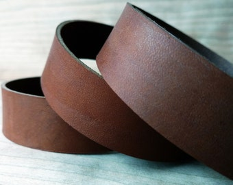 """43""""-50"""" Cuoio Brown Veg-Tanned Leather Strap 2mm/5oz, Italian Vegetable Tanned Leather Straps, Leather Strips, Flat Leather Cord, Lace, Soft"""