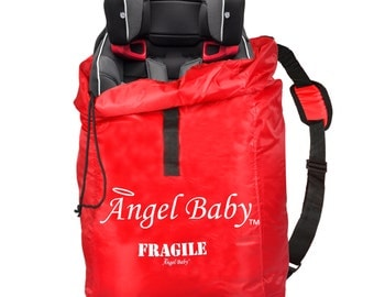 Car Seat Travel Bag, Kids Travel Bag, Red Car Travel Bag, Red Car Bag, Car Seat Bag, Water Resistant Bag, Universal Car Bag