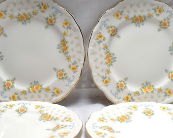 Royal Albert Bronte Bone China Tea Plates 1981.