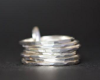 Stacking Rings - Skinny Stacking Rings - Silver Stacking Rings - Stacking Rings UK - UK Handmade