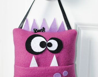 Monster Tooth Fairy Pillow- Pink