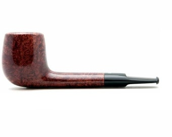 "Tobacco Smoking Pipe Briar Metal filter 4,92"" NEW Unsmoked Smooth Aviator Red pipe extra extra Briar, ebonite stem, excellent quality + GIFT"