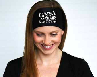 Gym Hair Don't Care Headband | Gym Headband | Fitness headband | Athletic graphic headband | Workout headband | Weight training headband