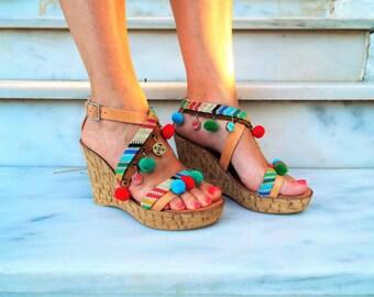 Gladiator Sandals , Women's Shoes,Leather Sandals ,High Heel Sandals ,Platform Wedges Sandals ,Lace up Sandals,,Embellished Greek Sandals