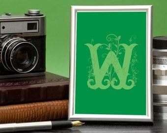 Letter W - Typographic Print