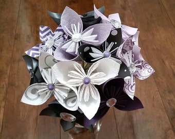 Paper Flowers - Alternative Bouquet - Unique Bouquet - Bridal Bouquet - Wedding - Bouquet - Paper Origami Bridal Bouquet
