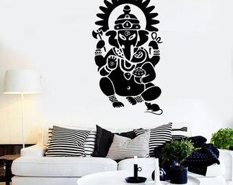 Wall Art Mural Ganesha Indian God Mythology Cool Bedroom Decal 2228di