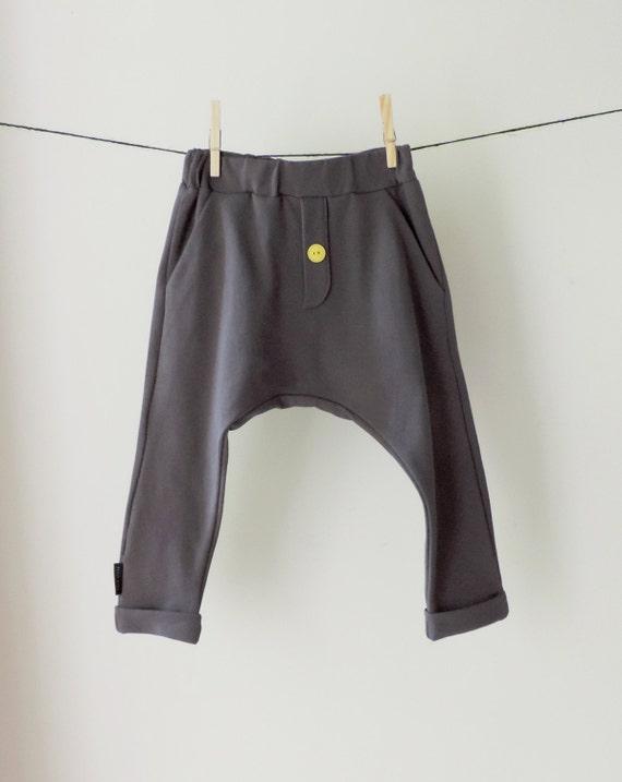 Kids  Grey Baggy Pants - Toddler Grey Harem Pants - Boys Girls  Harem Pants - Baby Baggy Pants - SALE  Kids - By PetitWild