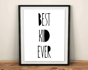 kids room wall decor nursery wall art best kid ever