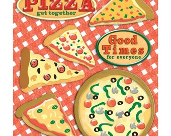 Pizza Stickers - Life's Little Occasions by K&Company